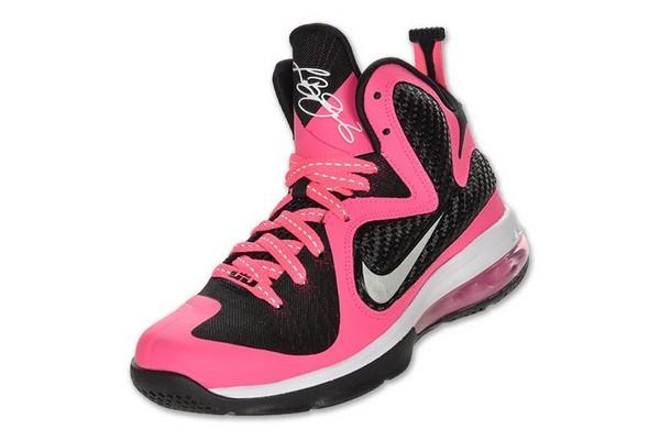 Nike Lebron 9 GS Laser Pink  Metallic Silver 8211 Black