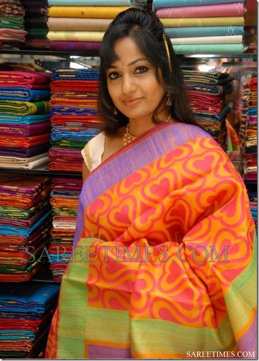 Madhavi_Latha_Orange_Saree