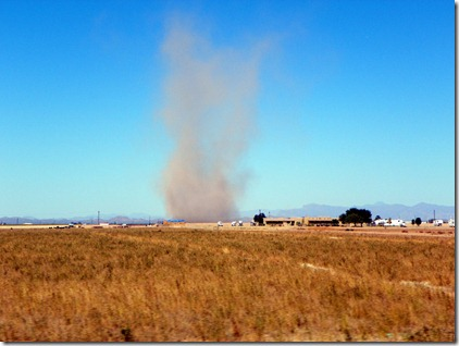 Largest dust devil we've ever seen.