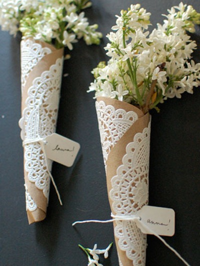 doily flower wraps tutorial