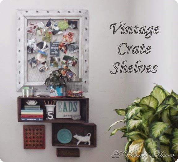 Vintage Crate Shelves