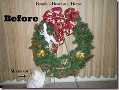 Before--damaged wreath