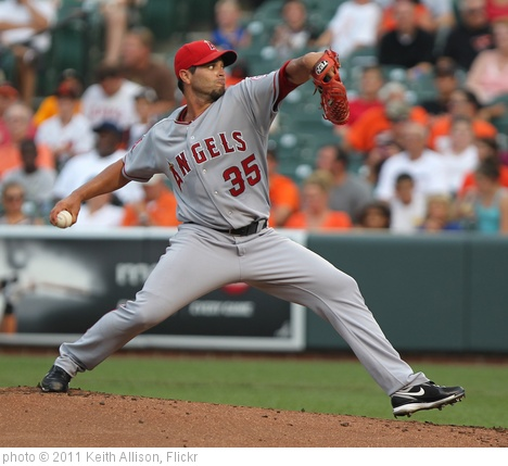 'Los Angeles Angels starting pitcher Joel Pineiro (35)' photo (c) 2011, Keith Allison - license: http://creativecommons.org/licenses/by-sa/2.0/