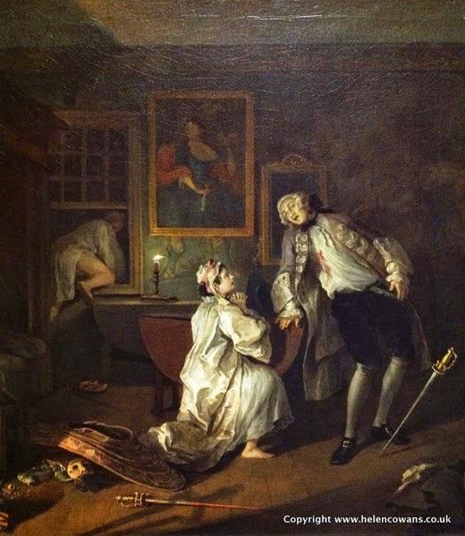 Hogarth 1743 Marriage A la Mode 4