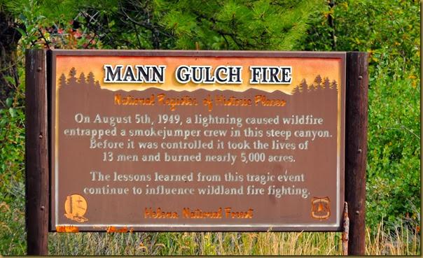 mann gulch fire sign