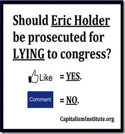 Prosecute Holder Lying - Yes or No