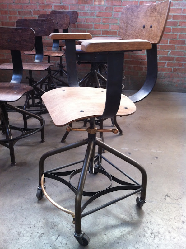 Some Wright Chair's / Toledo Reproduction Stools - Vintage Industrial Drafting Chair Vintage Industrial Furniture