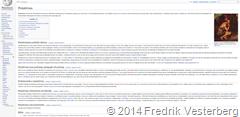 Skärmklipp Wikipedia om Primitivism den 141003 kl 1437