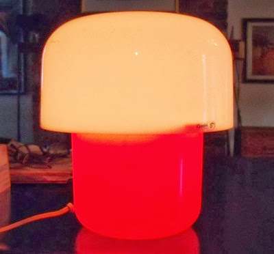 Guzzini orange and white lamp