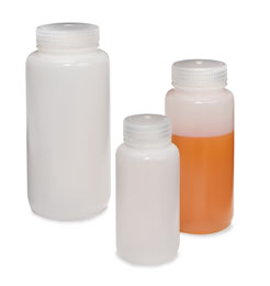 These Nalgene Wide-Mouthed Leakproof Bottles from The Container Store are great to fill with shampoo and conditioner for guest bathrooms.