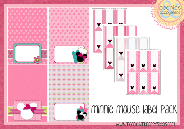minnie mouse label pack copy