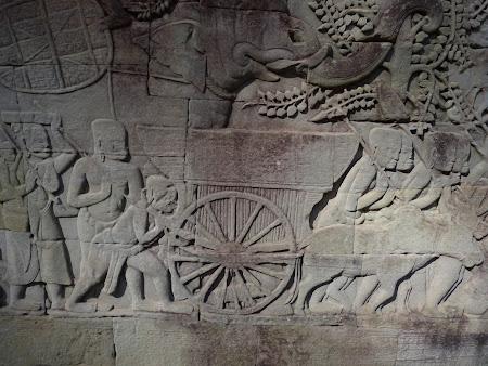 Obiective turistice Cambogia: Basoreliefuri Bayon