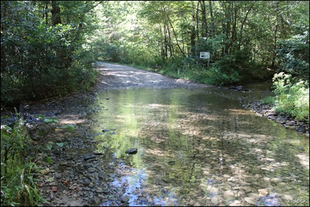 stream crossing on FS road 283 to High Shoals Falls