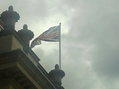 Union flag flying above Nuneaton and Bedworth town hall
