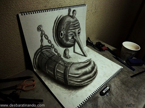desenhos lapis 3D desbaratinando  (7)