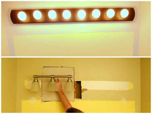an easy way to hang a light fixture between studs rh newcombhome blogspot com Overhead Light Fixture Wiring Diagram New Light Fixture Wiring