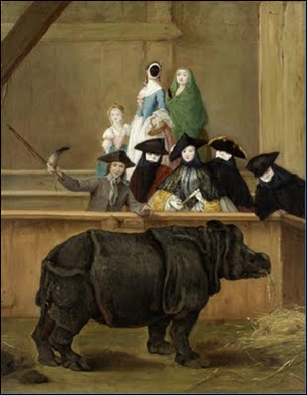 Pietro Longhi, Le rhinocéros Clara 1751