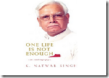 Buy One Life Is Not Enough : An Autobiography at Rs.423, from flipkart
