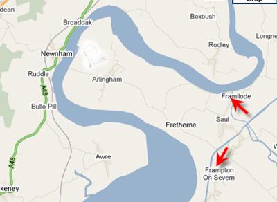 Arlingham Peninsula map
