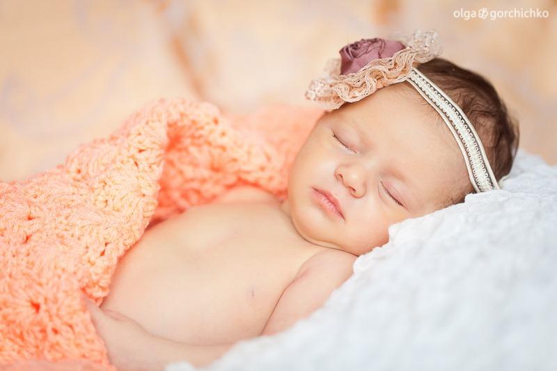 Эвелинка. Фотосессия новорожденных Гродно