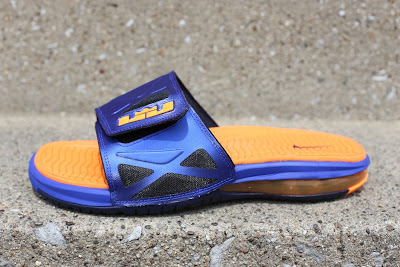 nike air lebron slide 2 blue orange 5 01 Match Your LeBron X PS with Nike Air Slide 2 Elite Superhero