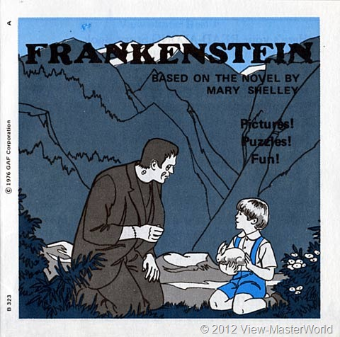 View-Master Frankenstein (B323), booklet cover