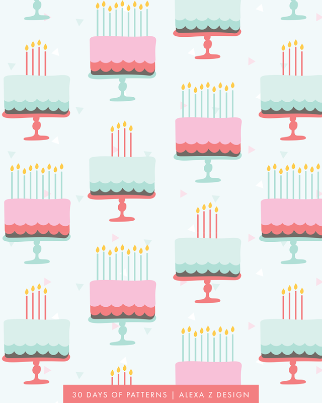 cakes - Alexa Z Design pattern