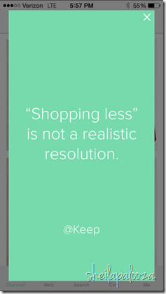 shopping less