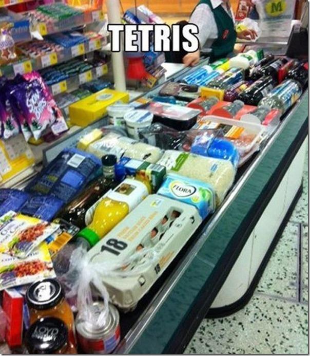 Tetris no supermercado