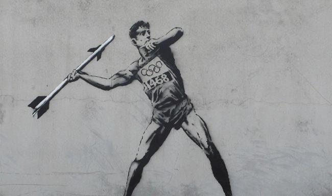Τα ολυμπιακά γκράφιτι του Banksy