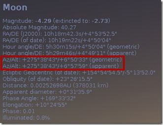 Idul Fitri 1433 H - 2012 M - Stellarium