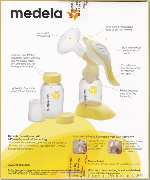 Medela Harmony Complete Set in Box_Year End Sale_Faheem's Wardrobe_RM 150 only_Original from Medela US_Back Box
