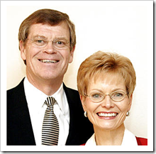 Dennis Brimhall and wife Linda in 2005