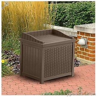 SearsOutdoorCatalog_Suncast 22 Gallon Resin Wicker Storage Seat
