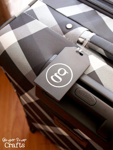 Ginger Snap Crafts: DIY Monogrammed Luggage Tag {tutorial}, April ...