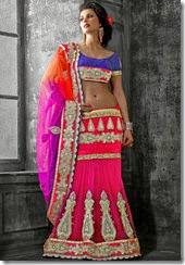 Pink & Violet lehenga Saree - Kopanaa