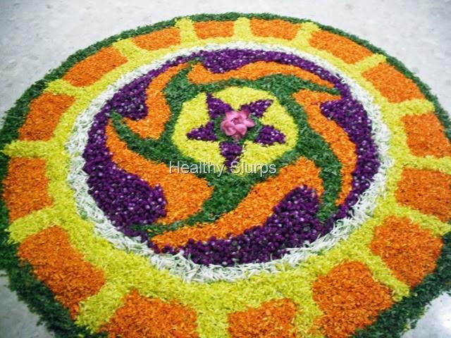 Traditional Onam Flower Carpet Decoration