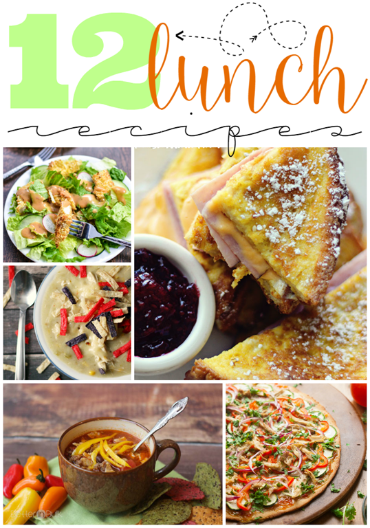 12 Lunch Recipes at GingerSnapCrafts.com #linkparty #features