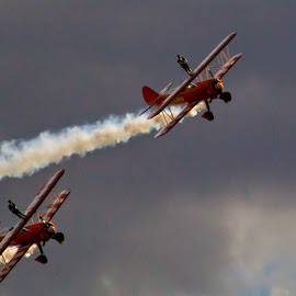 Wing walking air display by Andy Dow - Sports & Fitness Other Sports ( wing walking, airplanes, biplane, airplane, display )