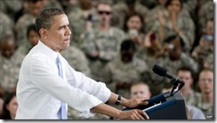 Barak Obama and Soldiers