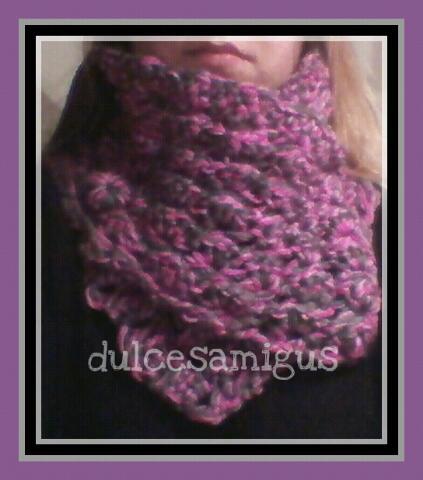 Patrón cuello a crochet: Punto peruano o escoba   DulcesAmigus