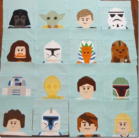Paper pieed Lego Star Wars characters