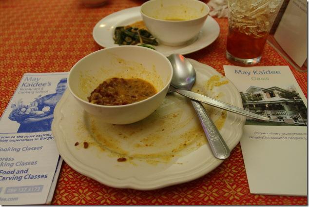A satisfied meal at May Kaidees
