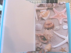 Art book April sea themed shell signature page 3. 2013