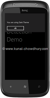 WP7 Demo - Dark Theme