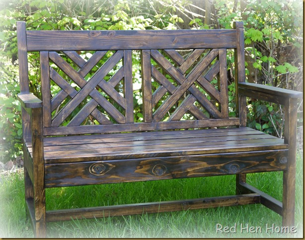 Red Hen Home woven bench 5