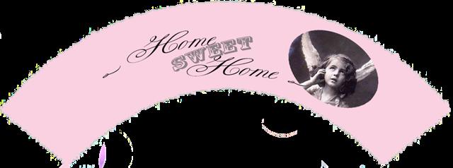 home sweet home rosa vintage engel