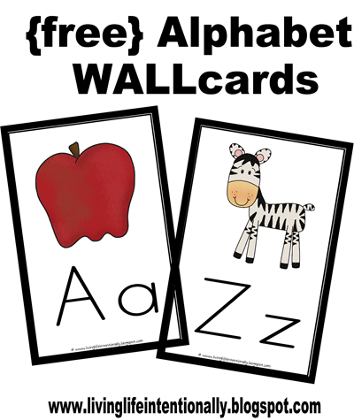 FREE Alphabet Wall Cards
