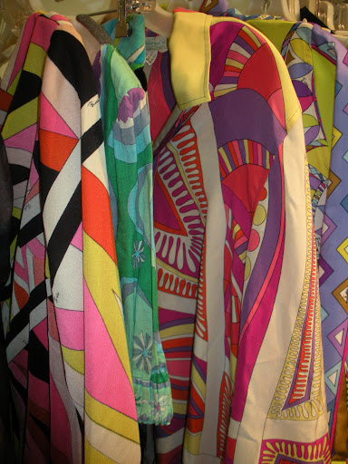 The patterns on these vintage Pucci pieces are so vivid.