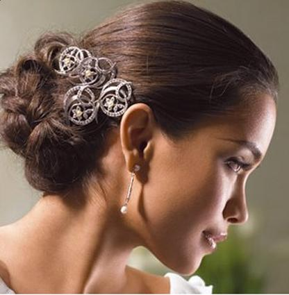 Beautiful And Sophisticated Bridal Updo